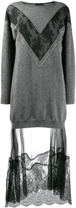 Fabiana Filippi Lace Embellished Jumper Dress