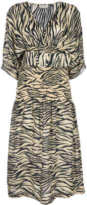 Nicholas zebra print midi dress