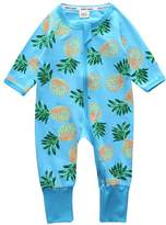 Kids Tales Baby Boys Girls Pineapple Blue Romper Cotton spring&Autumn Clothing Sleeper