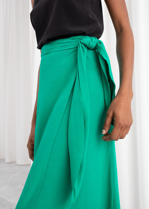 And other stories Ruched Wrap Midi Skirt