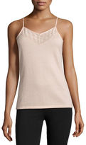 Neiman Marcus Cashmere Camisole with Lace Bib