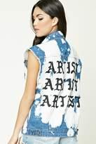 Forever 21 FOREVER 21+ Artist Bleach-Dye Denim Vest