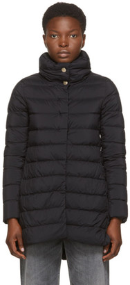 Herno Black Down Matte Amelia Coat