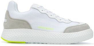 Emporio Armani Suede-Panel Chunky-Sole Trainers