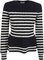 RED Valentino Striped Knit Sweater