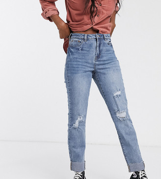 Urban Bliss straight leg jeans with rips