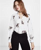 Express Slim Fit Tie-sleeve Portofino Shirt