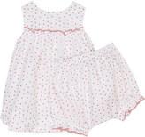Petit Bateau Floral print cotton dress & bloomers 1-12 months