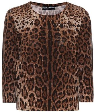 Dolce & Gabbana Leopard-print wool sweater