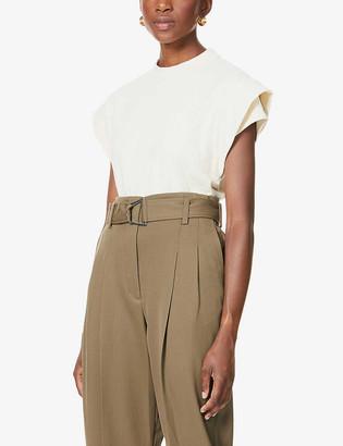 BA&SH Elix double-shoulder cotton T-shirt