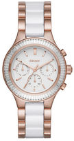 DKNY Rose Goldtone Stainless Steel and Ceramic Watch