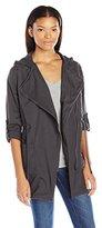 UNIONBAY Women's Adina Drapey Twill Asemetrical Zip Jacket