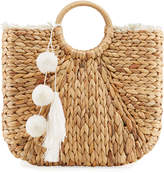 Capelli of New York Straworld Large Woven Beach Tote Bag