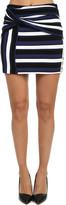 3.1 Phillip Lim Striped Wrap Mini Skirt