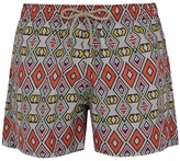 OKUN Masai Tribal-print swim shorts