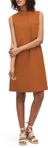 Lafayette 148 New York Mitchell Italian Bi-Stretch Sleeveless Shift Dress