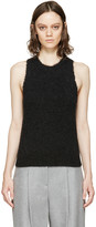 3.1 Phillip Lim Charcoal Frayed Knit Tank Top