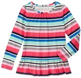 Gymboree Pink & Blue Stripe Peplum Top - Girls