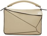 Loewe Beige Small Puzzle Bag