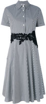 P.A.R.O.S.H. striped flared shirt dress - women - Cotton/Polyamide/Spandex/Elastane - XS