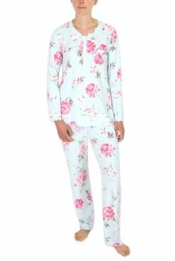 Miss Elaine Printed Knit Pajamas Set