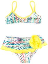 Lygia E Nanny Kids - printed bikini set - kids - Polyamide/Spandex/Elastane - 4 yrs