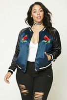 Forever 21 FOREVER 21+ Plus Size Embroidered Jacket