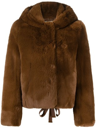 Sandro Faux-Fur Cropped Jacket