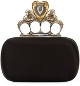 Alexander McQueen Heart Knuckle Short Box Clutch Bag, Black