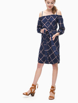 Splendid Reily Plaid Off Shoulder Dress