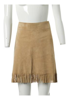 Dolce & Gabbana Beige Suede Skirts