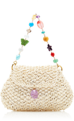 Grazia & Marica Vozza Woven Leather Jewel Shoulder Bag