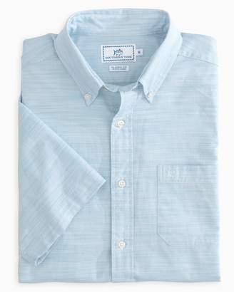 Southern Tide Seven Mile Beach Short Sleeve Button Down Shirt