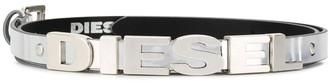 Diesel metallic 3D logo belt