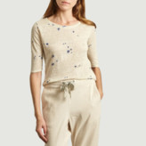 Bellerose Beige Floral Linen Seas T Shirt - 3