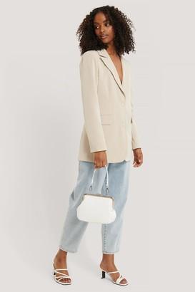 NA-KD Ostrich Look Clasp Bag