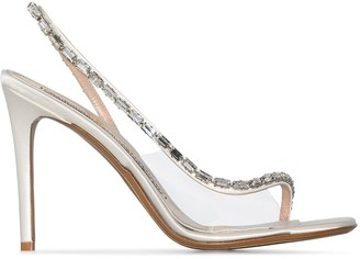 Alexandre Vauthier Elizabeth 100mm crystal-embellished sandals