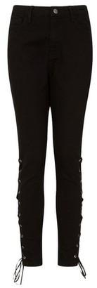 Dorothy Perkins Womens Girls On Film Black Denim Skinny Fit Jeans, Black