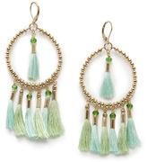 MANGO Tasseled hoop-earrings