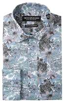Nick Graham Stretch Modern Fit Printed Dress Shirt