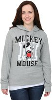 Freeze Mickey Mouse Standing Snow Heather Juniors Hooded Sweatshirt - M
