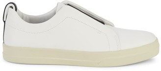 Vince Conway Leather Slip-On Sneakers