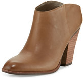 Dolce Vita Hailey Leather Block-Heel Bootie, Stone