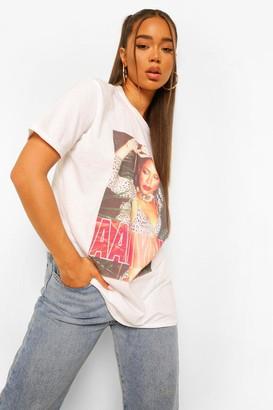 boohoo Aaliyah Photo License Print T-Shirt