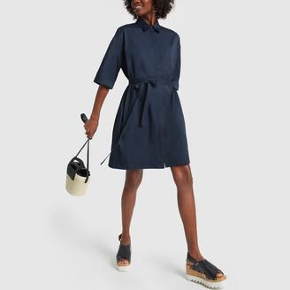 Co Half-Sleeve Tunic Dress