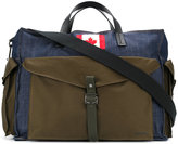 DSQUARED2 Canadian patch holdall - men - Cotton/Calf Leather - One Size