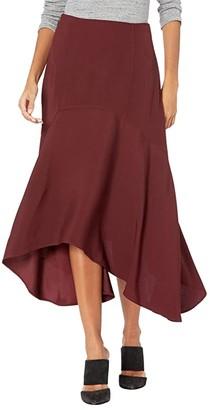 Jason Wu Asymmetric Drape Skirt (Dark Cherry) Women's Skirt