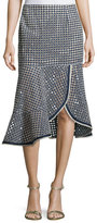 Nanette Lepore Surfside Eyelet Mid Skirt, Chambray