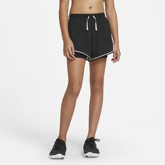 Nike Big Kids' (Girls') Printed Running Shorts Dri-FIT Tempo