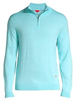 Isaia Men's Half Zip Sweater